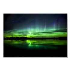 Aurora Borealis near the village of Clyde 2 Posters by stocktrek