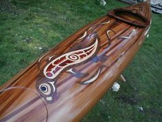 Otter kayak marquetry