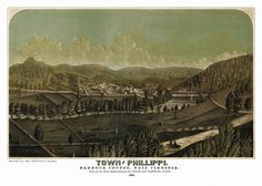 Town of Philippi, Barbour County, West Virginia. Sketched by Mrs. M. D. Pool of Virginia. 1861. Year: 1861 City: Philippi County: Barbour State: West Virginia Country: United States