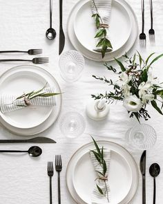 minimal modern table setting