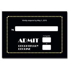Lovely Broadway Ticket Bar U0026 Bat Mitzvah Response Card. Pertaining To Broadway Ticket Template