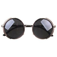 a51bdb19d5b Steampunk Sunglasses With Side Shades - Silver   Gray