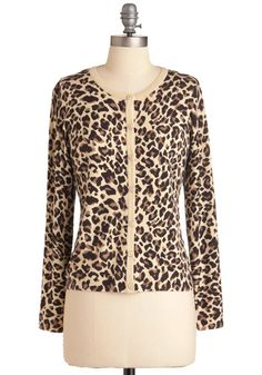 Lace a Bet on Style Cardigan $54.99  I NEED a leopard print cardigan!