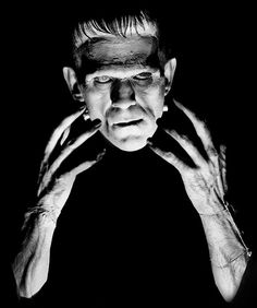 Boris Karloff as the Frankenstein monster.. (1931) This is the first, and by far the best, version of the Jack Pierce Frankenstein's monster makeup. Later versions focused on the flat head and bolts in the neck but forgot the main thing which was that he's a dead body brought to life. This was the only movie where he actually looked dead. Terrifying.