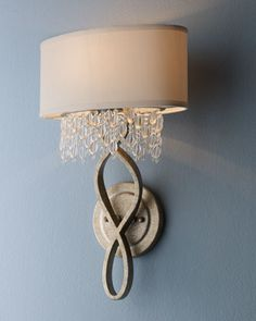 """Elegant piece that works in any home, not too opulent and perfect for the entryway. #HORCHOW. """"Palais"""" Sconce at Horchow."""