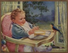 Health And Happiness -- by Mabel Rollins Harris (American, Vintage Pictures, Vintage Images, Jessie Willcox Smith, Baby Illustration, Vintage Greeting Cards, Vintage Children, Art Children, Young Children, American Artists