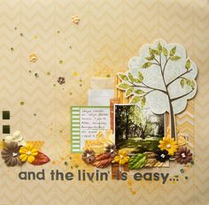 My take on September 1-2-3 Get Scrappy! challenge By Elina Stromberg #scrapbooking #123GetScrappy