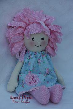 Aquarela d'Algodão: Bonecas de Pano - Miss Nônô... Diy And Crafts, Teddy Bear, Toys, Pink, Animals, Homemade Dolls, Crochet Dolls, Sock Snowman, Cloth Doll Making