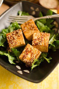 A simple five minute Korean DUBU (tofu) recipe!  Get the recipe here --> {http://wp.me/p2xBp1-1IY}