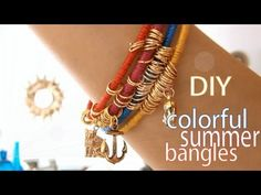 DIY Fashion ♥ Colorful Summer Bangles