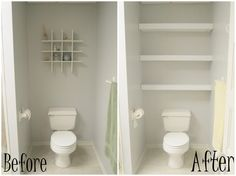 Interesting Before And After Remodelling Over Toilet Storage With Simple Models For Decorate White Bathroom Furniture Decors | Ikea White Bathroom Wall Cabinets Free Standing Bathroom Cabinets in Bathroom Category | Groovexi, a daily home design reference