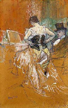 Conquête de passage (1896)  Huile, craie blanche, craie noire sur papier marouflé (105 x 70)  Henri de Toulouse-Lautrec