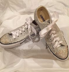 b61d0389e83a Bling Gym shoes · Bride+Crystal+Converse+by+Chicersneakers+on+Etsy Women s  Low Top
