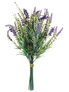 "Lavender Bundle in Purple and Lavender 16"" Tall Possible center piece flower"