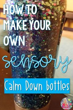 Learn to make your own sensory calm down bottles with glitter. These are truly my students favorite things in my office. Great addition to your classroom calm down corner. DIY cheap and easy to make. Perfect for kids with anger or anxiety. Middle School Counselor, Elementary School Counseling, Middle School Classroom, Elementary Schools, Law School, School Days, High School, Calm Classroom, Autism Classroom