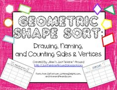 FREE - Use this open table to guide your students in sorting shapes.  Easy to use, this table allows students to practice spelling shape names, drawing co...