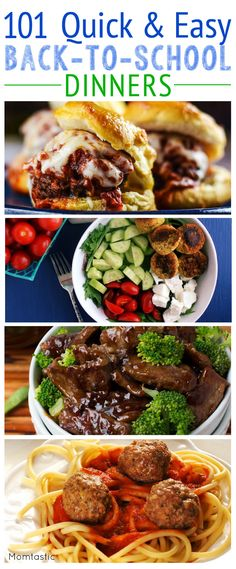 Need a dinner idea? We have 101 of them! Some really good looking recipes--some healthy and others not so much Fast Dinners, Quick Easy Meals, Cooking Recipes, Healthy Recipes, Healthy Meals, Healthy Cooking, C'est Bon, Food For Thought, Family Meals