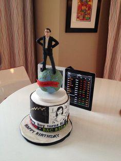 Retirement Party Cake Stock Broker Financial Advisor Www