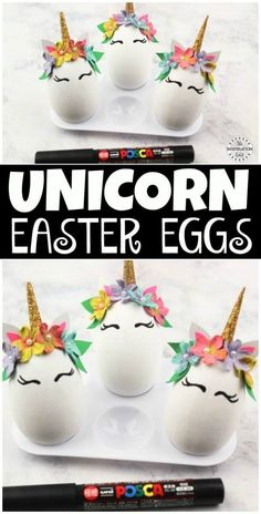 The Cutest DIY Unicorn Eggs  Tutorial. Come take a look. When I was a child I decorated an egg which won first prize. It was a little ballerina egg and had a bun case for a tutu. #eastereggs #eastercrafts #easterbunny #easterart #unicorncrafts #unicorn #u