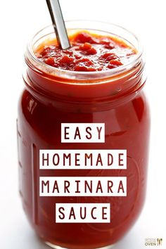 Homemade Marinara Sauce - Delicious marinara is so easy to make with simple, fresh ingredients!