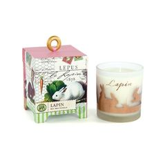 Michel Design Works - Lapin 6.5 oz. Soy Wax Candle - Design Collections Candle Wax, Soy Wax Candles, Fine Stationery, Natural Candles, Candle Holder Set, Glass Containers, Biodegradable Products, Decorative Boxes, Bunny
