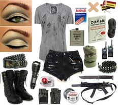 Zombie Apocalypse Polyvore | Zombie Apocalypse by jasminealcorn featuring high waisted destroyed ...