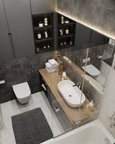 Bathroom Inspiration : Alexey Volkov ABThe Definitive Source for Interior Designers Bathroom Design Luxury, Bathroom Layout, Modern Bathroom Design, Home Interior Design, Bathroom Photos, Small Bathroom, Beton Design, Hotel Room Design, Contemporary Baths