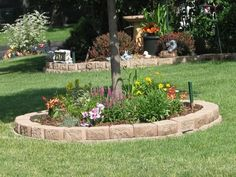 """flower bed around tree, for the """"memorial"""" pet tree!"""
