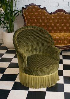fauteuils crapaud, ancien, rétro, vinatge, style, luois philippe, xix eme siècle, originaux, authentiques