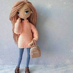 Mesmerizing Crochet an Amigurumi Rabbit Ideas. Lovely Crochet an Amigurumi Rabbit Ideas. Mini Amigurumi, Crochet Amigurumi, Crochet Doll Pattern, Amigurumi Patterns, Amigurumi Doll, Doll Patterns, Crochet Doll Clothes, Knitted Dolls, Handmade Crafts