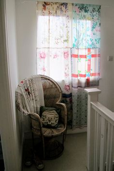 Kat This Kat That: Silk Scarves Curtain
