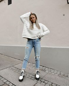 Grunge Outfits, Edgy Outfits, Winter Fashion Outfits, Fall Outfits, Autumn Fashion, Cute Outfits, Grunge Style, Soft Grunge, Dr. Martens