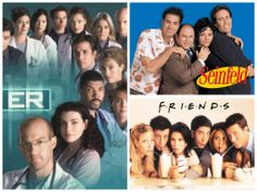A few of top TV shows in 1996 with ER ranking first!