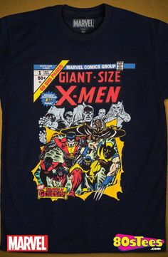 2c519ca38b9 Giant-Size X-Men T-Shirt  Marvel Comics Mens T-Shirt