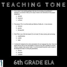 Teaching Tone: Activities for 6th Grade ELA https://www.canva.com/design/DAB6bHHTaHA/lNPBV5tTrxuO84CQqhMUQA/view