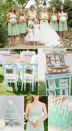 Die Hochzeit in mint grün!