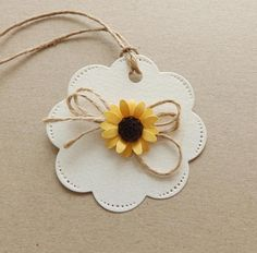 Sunflower thank you tags/Favor tags/