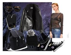 """""""Sheer delight"""" by jessicagrabbit ❤ liked on Polyvore featuring H&M, Converse, UGG, Max&Co. and Mulberry"""