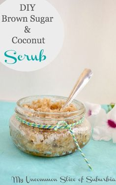Easy tutorial on how to make a Coconut and Brown sugar scrub
