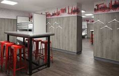 Hostels that merge our Wallmotion range w/ bespoke services.