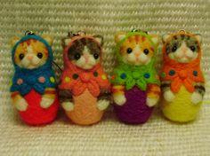 猫マトリョーシカ ストラップの作り方 人形 ぬいぐるみ・人形   アトリエ 手芸レシピ16,000件!みんなで作る手芸やハンドメイド作品、雑貨の作り方ポータル