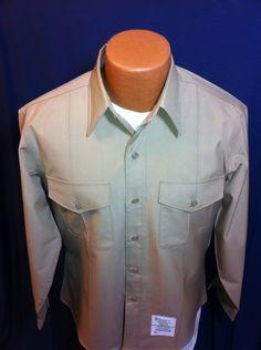 Genuine Issue Long Sleeve Khaki Dress Shirt