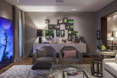 O Toilette Contemporâneo da mostra foi criado pela arquiteta, designer de interiores e urbanista Amanda Damha. Inspirado no luxo e riqueza da era do ouro do café no Brasil, mistura tons quentes, dourado e a mistura de materiais contemporâneos com design clássico. Foto: Divulgação