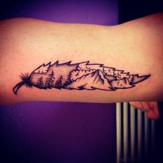 Or carry mountains as if they were as light as a feather. | 33 Stunning Landscape Tattoos That Will Remind You Of Home