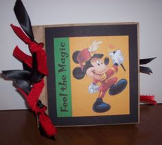 Mickey Mouse mini paper bag scrapbook album by ShareBearCreations, $5.25
