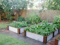Raised beds from Home Grown Garden beds - delivered from he.net.au self-assembly.  All colourbond colours. Custom sizes available. Hardwood or CCA/ACQ mix.