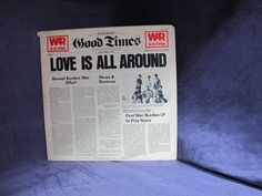 Love Is All Around a Vintage Vinyl Record Album LP by Eric burdon and War Released on the ABC Record Label in 1976 AB-988
