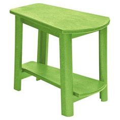 Outdoor CR Plastic Generations Tapered Style Accent Table Kiwi Green - T04-17