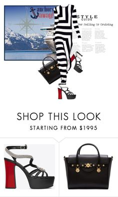 """""""Anchors Away"""" by the-house-of-kasin ❤ liked on Polyvore featuring Yves Saint Laurent, Versace and stripes"""