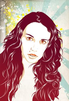 Vector Portraits by Renzo González, via Behance